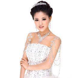 Wholesale Swarovski Elements Bridal Sets - Swarovski Elements Wedding Accessories Piece of Bridal Jewelry Sets diamond sets of chain 17