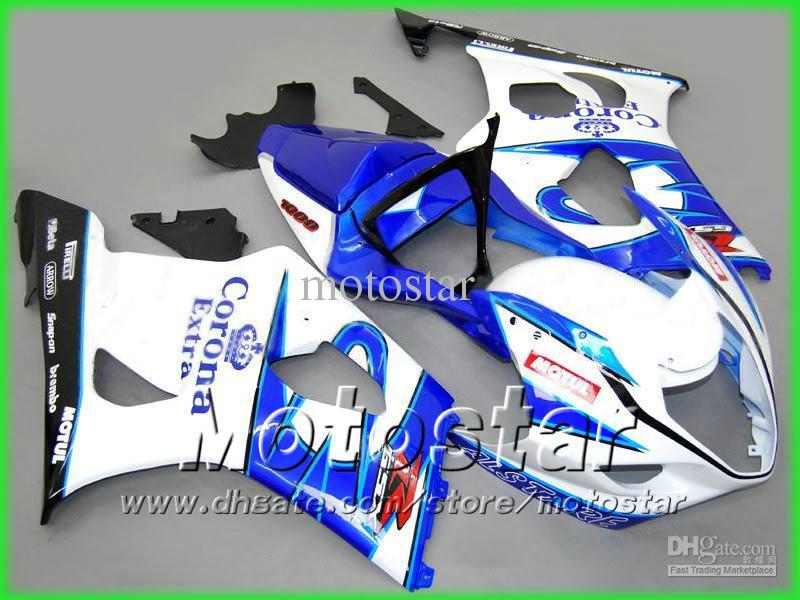 コロナエクストラバイサイクルフェアリングキット鈴木2003 2004 2004 GSX-R1000 K3 GSXR1000 GSXR 1000 03 04ボディ修理フェアリングキット