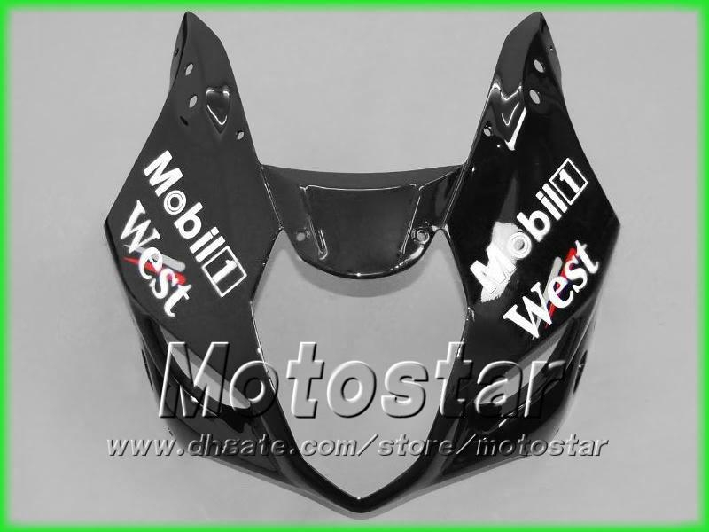 Road Racing Black West Motorcycle Fooding Kit dla Suzuki 2003 2004 GSX-R1000 K3 GSXR1000 GSXR 1000 03 04 Full Motocykl Owalnia