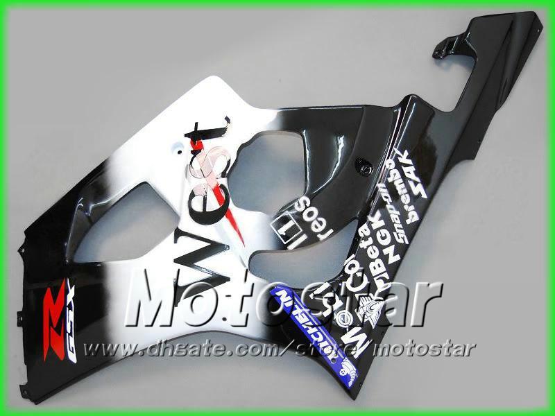 Road Racing Black West Motorcycle Fairing Kit voor Suzuki 2003 2004 GSX-R1000 K3 GSXR1000 GSXR 1000 03 04 Volledige motorfietsen
