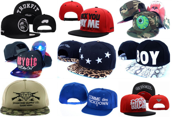 best selling Cool Style Snapbacks Hats Adjustable Cheap Snapbacks Hat Cap Trukfit Pink Dolphin Wholesale Caps Snapbacks High Quality Mix Order Free Ship
