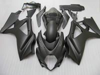 carenado negro mate gsxr al por mayor-Kit de carenado negro mate para GSX-R1000 K7 GSXR1000 2007 2008 GSXR 1000 07 08 + parabrisas