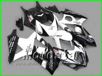 Wholesale Hayabusa Corona Fairing - 5 gifts White Black Corona Alstare fairing kit FOR 2007 2008 GSX-R1000 K7 GSXR1000 GSXR 1000 07 08 full fairings kit