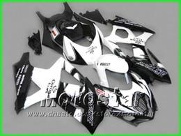 Wholesale Black Hayabusa Fairing Kit - 5 gifts White Black Corona Alstare fairing kit FOR 2007 2008 GSX-R1000 K7 GSXR1000 GSXR 1000 07 08 full fairings kit