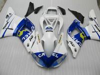 1999 r1 için fairings toptan satış-Wht mavi KAMAL Yüksek dereceli karoseri kaportalar için Yamha 1998 1999 YZF R1 YZFR1 98 99 YZF-R1 tam kaporta kiti