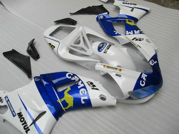 Free custom Fairing kit forYAMAHA YZF R1 1998 1999 blue white fairings set YZF R1 98 99 ZQ22