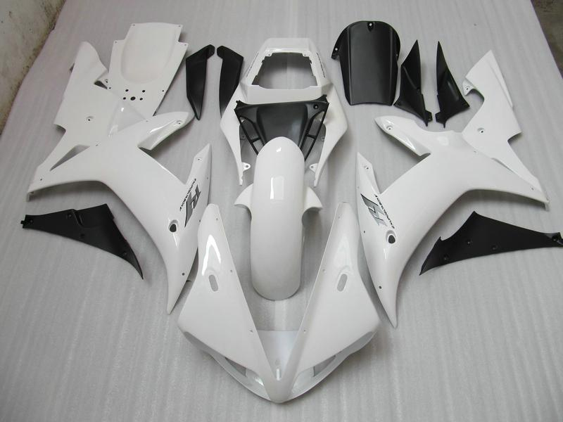 Carrozzeria moto bianca YZF R1 2002 2003 YZFR1 02 03 YZF-R1 carenatura completa + Parabrezza