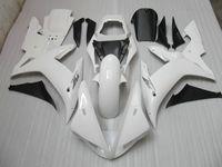 r1 ön cam toptan satış-YZF R1 2002 2003 için beyaz Motosiklet kaporta YZFR1 02 03 YZF-R1 tam kaporta kiti + Cam
