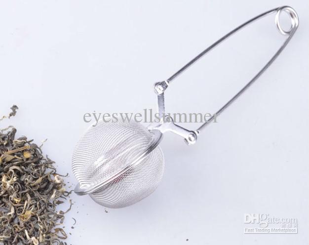 4,5 cm en acier inoxydable poignée de thé diamètre de la boule de maille filtre pratique filtre à thé stable passoire à thé puissant