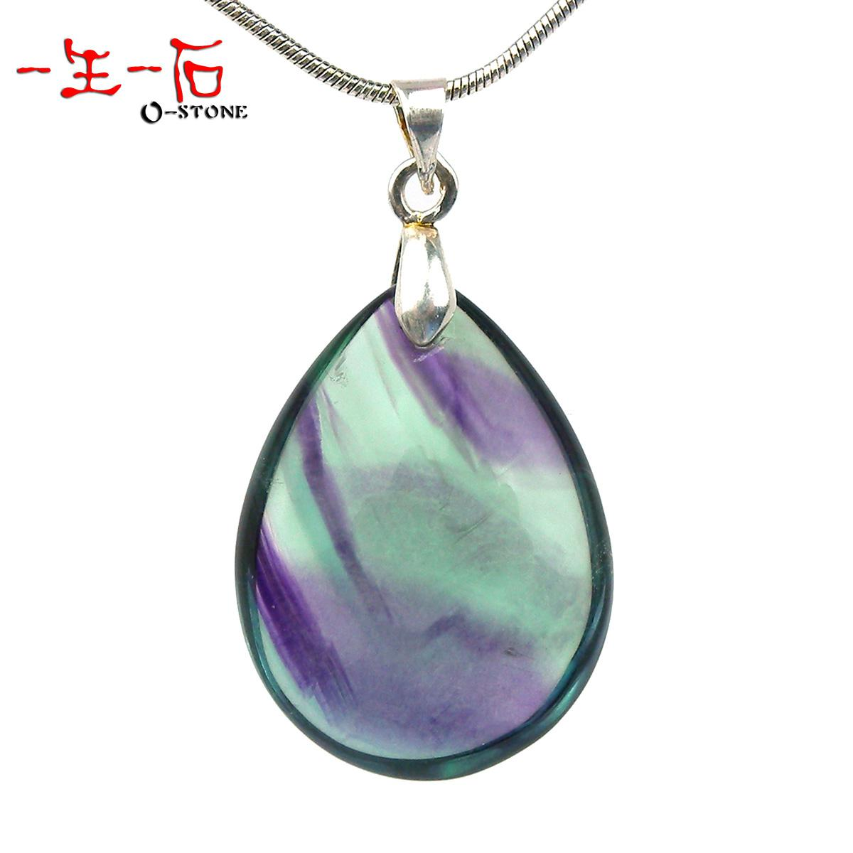 Wholesale life of a genuine natural stone pendant rainbow fluorite wholesale life of a genuine natural stone pendant rainbow fluorite fluorspar peacock crystal pendant gift fema silver jewelry gold jewelry from mushan aloadofball Image collections