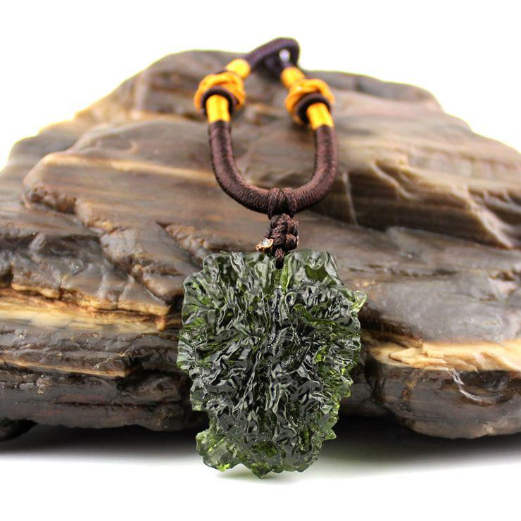 Wholesale Life Of A Genuine 3A Grade Natural Stone Moldavite Pendant With  14 15g Of Stone Attached Certificate Gold Pendants For Necklaces Flower