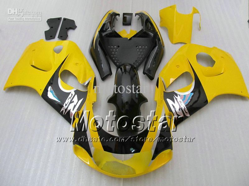 Geel Black Fairing Kit Forsuzuki GSXR600 GSXR750 SRAD-VALINGEN 1996 1997 1998 1999 2000 GSXR 600 750 96 97 98 99 00