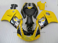 Wholesale Gsxr Black Yellow - Yellow black fairing kit forSUZUKI GSXR600 GSXR750 SRAD fairings 1996 1997 1998 1999 2000 GSXR 600 750 96 97 98 99 00