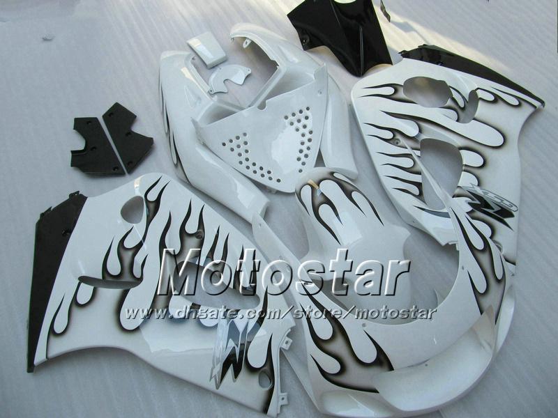 Black flame fairing kit for suzuki GSXR 600 750 1996-2000 SRAD fairings GSXR 600 750 96 97 98 99 00 GSXR750 GSXR600