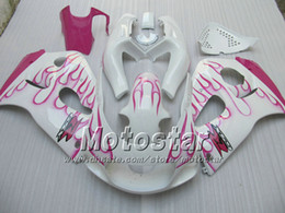 Pink fairings online shopping - Pink flames fairing for suzuki GSXR600 GSXR750 GSXR GSX R750 GSX R600 SRAD fairings