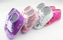 Wholesale Wholesale Cheap Bling - 10%off!Sparkling sequins baby shoes, first walker shoes,toddler shoes, shoes sale,china shoes,cheap shoes! 6pair 12pcs