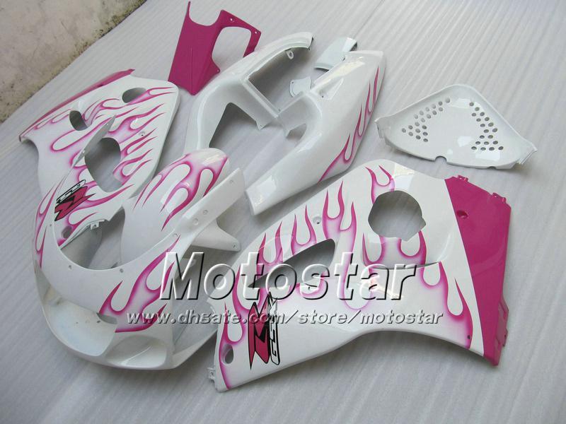 Carenado de llamas rosadas para suzuki GSXR600 GSXR750 1996-2000 GSXR 600 750 96 97 98 99 00 GSX-R750 GSX-R600 carenados SRAD