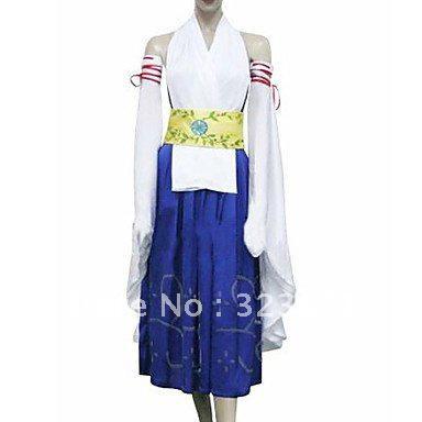 Final Fantasy X Yuna Kimono Cosplay Costume