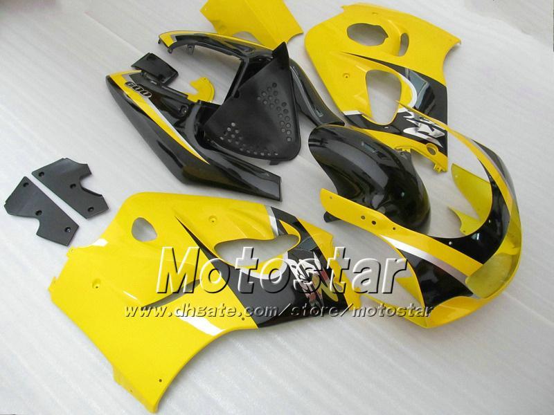 Żółty Czarny Zestaw Forsuzuki GSXR600 GSXR750 SRAD WŁAŚCICENIA 1996 1997 1998 1999 2000 GSXR 600 750 96 97 98 99 00