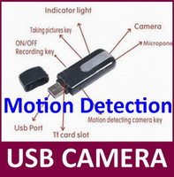 Wholesale Digital Camera Drive - Motion Detection USB DISK Camera Mini DV Digital video recorder USB Drive PC webcam high quality with CE certification