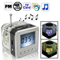 Wholesale Portable Mini Lcd Speaker - 20pcs   lot NIZHI TT028 MINI Multimedia SPEAKER LCD USB FM Radio for MP3 USB Micro SD Flash+DHL free shipping