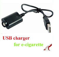 Wholesale ego c cig - eGO USB Cable Charger Electronic Cigarette USB Charger for eGo eGo-T EGO-C EGO-W e cig e-cig E-Cigarette ego 510 thread battery In Stock
