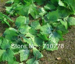 Plantas de folha de uva artificial on-line-2.5 M 60 pcs artificial folhas de Uva plantas de videira vinha folhas de decoração de vime
