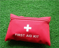 Wholesale Mini First Aid - Wilderness first aid bag medical promotion gifts mini emergency frist aid kits 100pcs free shipping