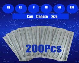 200 unids / lote agujas de tatuaje desechables estériles surtidos para kits de pistola de tatuaje apretones de tinta suministros de tatuaje
