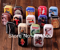 Iron case storage case storage tin candy tin box vintage Eur...