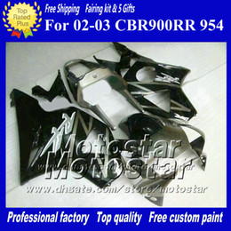 Honda 954 Canada - 7 Gifts aftermarket fairing for HONDA CBR900RR 954 2002 2003 CBR900 954RR CBR954 02 03 CBR900RR glossy gray black custom fairings set ad19