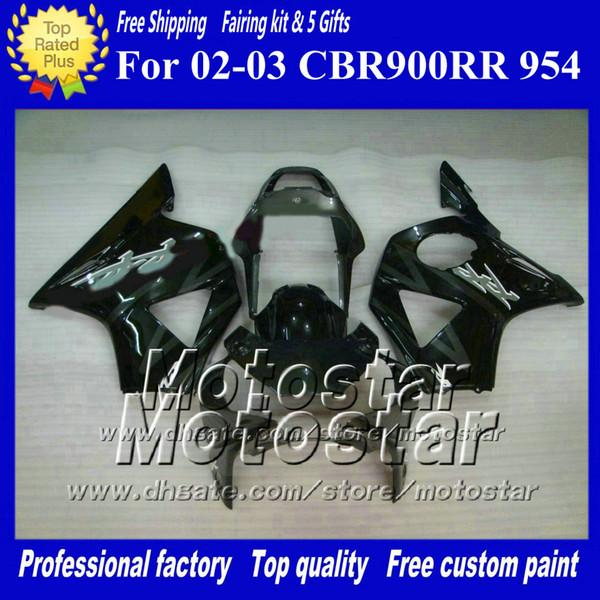 7 Gifts aftermarket fairing for HONDA CBR900RR 954 2002 2003 CBR900 954RR CBR954 02 03 CBR900RR light gray black custom fairings set ad20