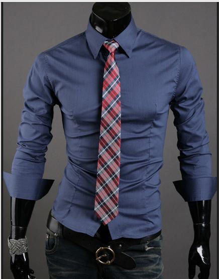 2017 2015 Men Business Shirts Denim Shirt Men'S Casual Wear Summer ...