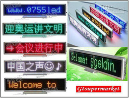 Wholesale Scrolling Led Screen - factory price led Scrolling Message Meeting screen clock displa LED Digital desktop display All language red yellow blue white green color