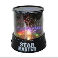 proyector de luz cosmos al por mayor-Colorido cosmos estrellas láser-LED proyector Star Projector Lamp LED Noche luz linterna regalo romántico