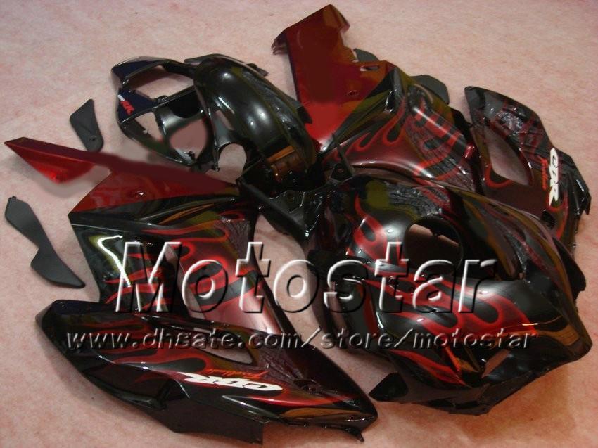 H1451 Red Flames molduras de inyección ABS Careing para HONDA CBR1000RR 2004 2005 CBR1000 RR CBR 1000RR 04 05 kit de carenado completo
