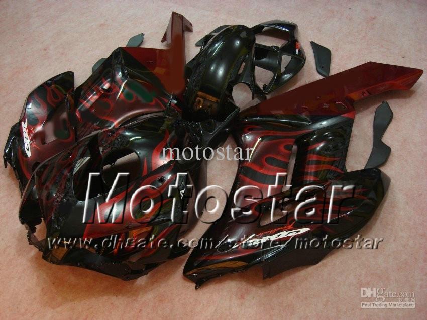 HONDA CBR1000RR 2004 2005 CBR1000RR CBR 1000RR 04 05フルセットフェアリングキットのためのH1451赤い炎射出成形ABSフェアリング