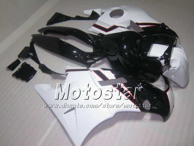 Black White ABS Fairing kit for Honda CBR600 F2 1991 1994 91 92 93 94 cbr 600 f2 600f2 fairings #H2160