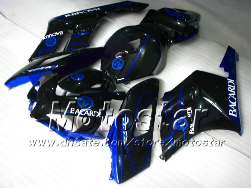 7 presentes! BACARDI azul preto Molde de Injeção ABS Carcaças para HONDA CBR1000RR 2004 2005 CBR1000 RR CBR 1000RR 04 05