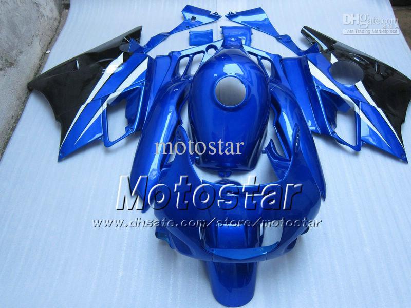Tank Cover Blue Black Populära Fairing Kit för Honda CBR600F CBR600 F2 1991 1992 1993 1994 CBR Fairings 91 92 93 94