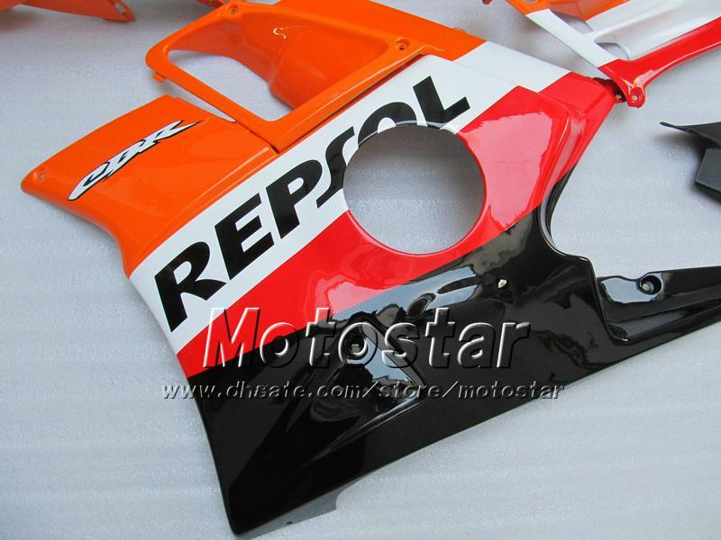 Motocycle Backings voor Honda CBR600 F2 91 92 93 94 CBR600F2 1991 1992 1993 1994 CBR 600 Orange Black Repsol Custom Backings UU29