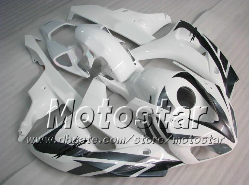 7Gifts road racing fairing kit for HONDA CBR1000RR 06 07 CBR 1000RR 2006 2007 glossy white fairings set ad72