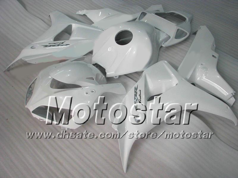 7 Gifts racing fairing kit for HONDA CBR1000RR 06 07 CBR 1000RR 2006 2007 glossy white fairings set ad74