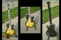 Wholesale Black Vos Custom Guitar - Custom shop vos Guitar Black yellow Burst Electric Guitar Accept custom wholesale guitars from china