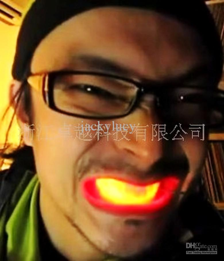 New Halloween party toys gift Strange new LED light emitting tooth toys Luminous braces Luminous teeth