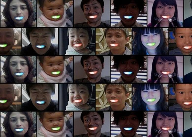 Yeni Cadılar Bayramı partisi oyuncaklar hediye Garip yeni LED ışık yayan diş oyuncaklar Aydınlık parantez Aydınlık diş