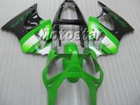 ingrosso zx6r verde-Kit carena bianco verde lime PER KAWASAKI Ninja ZX6R 636 00-02 ZX-6R 00 01 02 ZX 6R 2000 2001 2002 carenatura carrozzeria