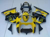 Wholesale Zx6r 636 Paint - Yellow moto-gp custom paint fairings for KAWASAKI Ninja ZX6R 636 00-02 ZX-6R 2000-2002 00 01 02 ZX 6R 2000 2001 2002 fairing kit