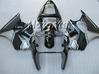 Black Gray Fairing Kit FOR KAWASAKI Ninja ZX6R 636 00- 02 ZX-...