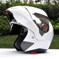 Wholesale Jiekai Xxl Helmet - 2016 hot sell JIEKAI 105 Helmets Motorbike undrape face helmet motorcycle double lens casque off road